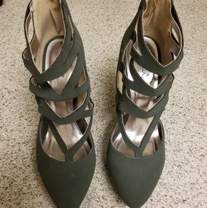 Qupid Strappy Heels - 8 1/2
